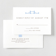 London Skyline---Letterpress RSVP Card
