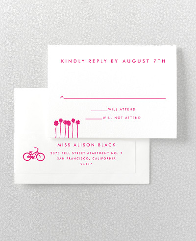 Los Angeles Skyline RSVP Card