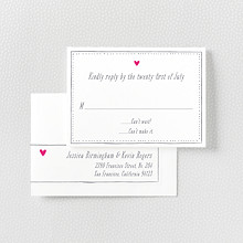 Love Knot - Letterpress RSVP Card