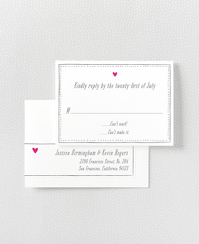 Love Knot Letterpress RSVP Card
