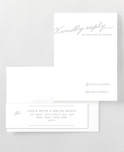 Atlantic Foil/Letterpress RSVP Card