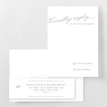 Atlantic: Foil/Letterpress RSVP Card