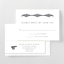 Edinburgh Skyline: Letterpress RSVP Card