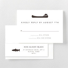 Mountain Skyline: Letterpress RSVP Card