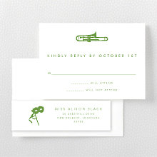 New Orleans Skyline: Letterpress RSVP Card
