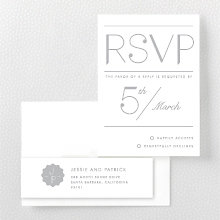 Pop Deco---Foil/Letterpress RSVP Card