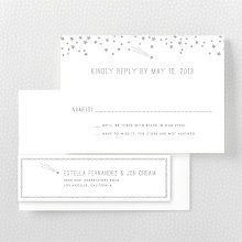 Shooting Star: Foil/Letterpress RSVP Card