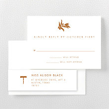 Wine Country Skyline: Letterpress RSVP Card