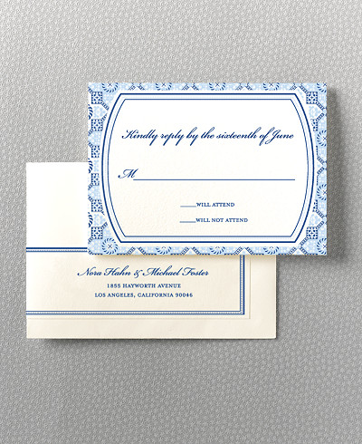 Marrakesh Letterpress RSVP Card