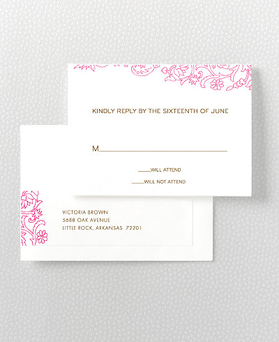 Medjool Letterpress RSVP Card