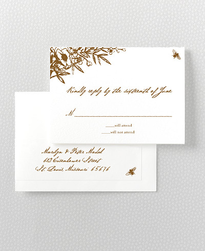 Naturalist Letterpress RSVP Card