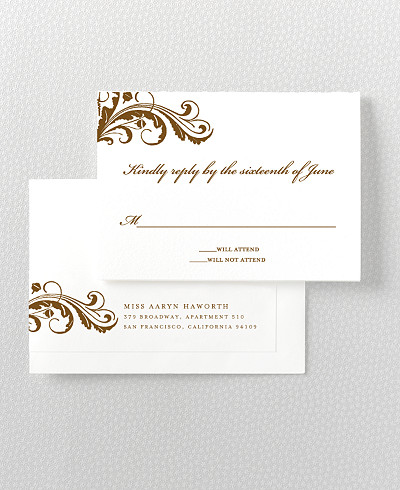 Oak Letterpress RSVP Card