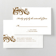 Oak: Letterpress RSVP Card