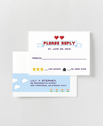 Pixel Perfect RSVP Card