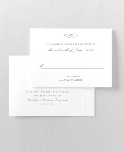 Ritz Letterpress RSVP Card