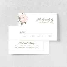 Romantic Garden: Letterpress RSVP Card