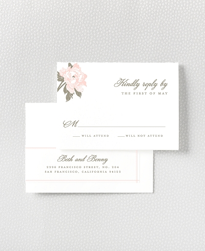 Romantic Garden RSVP Card