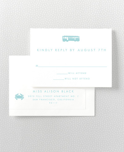 San Francisco Skyline RSVP Card