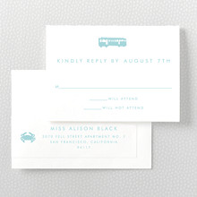 San Francisco Skyline: RSVP Card