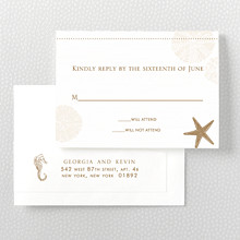 Seashore: Letterpress RSVP Card