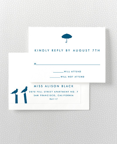 Seattle Skyline RSVP Card