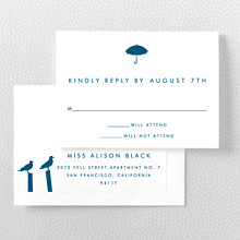Seattle Skyline---RSVP Card