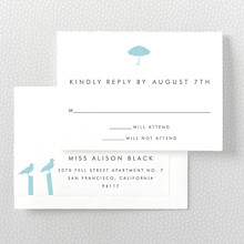 Seattle Skyline---Letterpress RSVP Card