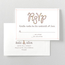 Tie The Knot---Letterpress RSVP Card