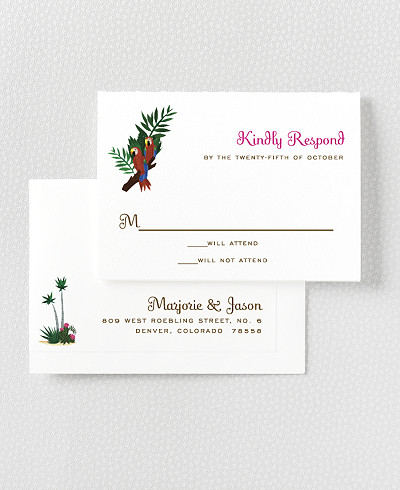 Tropical Paradise RSVP Card