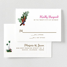 Tropical Paradise: RSVP Card