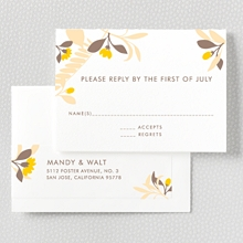 Tropic: Letterpress RSVP Card
