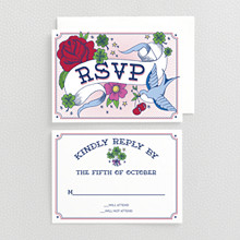 Vintage Tattoo---RSVP Card