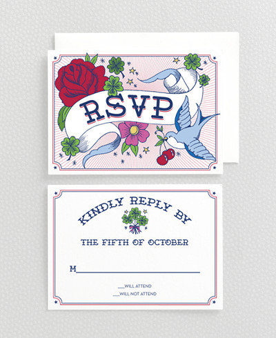 Vintage Tattoo RSVP Card