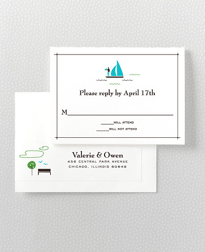 Visit Chicago Letterpress RSVP Card