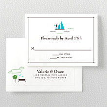 Visit Chicago---Letterpress RSVP Card