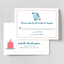 Visit Washington, D.C.---Letterpress RSVP Card