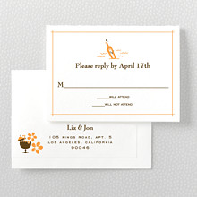 Visit Hawaii---Letterpress RSVP Card