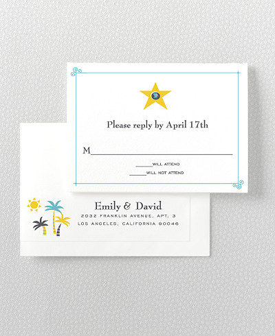 Visit Los Angeles Letterpress RSVP Card