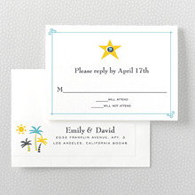 Visit Los Angeles---Letterpress RSVP Card