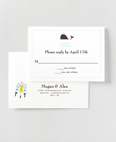 Visit Martha's Vineyard Letterpress RSVP Card