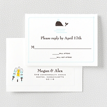 Visit Martha's Vineyard---Letterpress RSVP Card