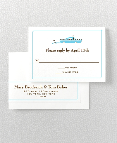 Visit New York Letterpress RSVP Card