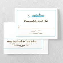 Visit New York---Letterpress RSVP Card
