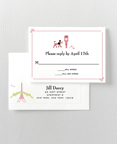 Visit Paris Letterpress RSVP Card