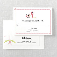 Visit Paris---Letterpress RSVP Card