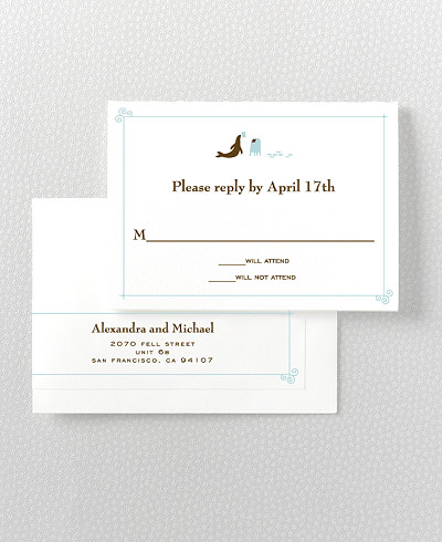 Visit San Francisco Letterpress RSVP Card