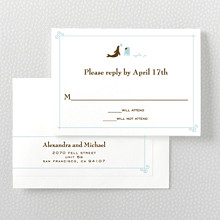 Visit San Francisco---Letterpress RSVP Card