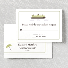 Visit Seattle---Letterpress RSVP Card