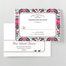 Woodland Damask: RSVP Card