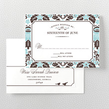 Woodland Damask---Letterpress RSVP Card